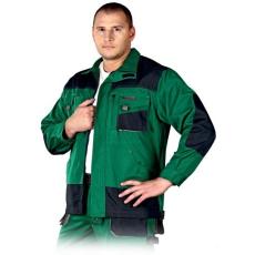 Zöld Kabát FORMEN, 65% poliészter és 35% pamut (Dizájnos munkaruha)