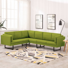 Zöld szövet sarokkanapé bútor