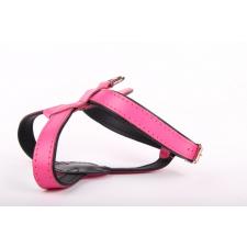Zooleszcz Kutyahám valódi bőrből - Rózsaszín nyakörv, póráz, hám kutyáknak