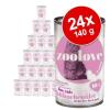 zoolove Gazdaságos csomag: zoolove macskaeledel 24 x 140 g - Vegyes csomag