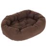 zooplus Exclusive Cozy Mocca kutyaágy - H 120 x Sz 105 x M 25 cm