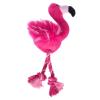 zooplus Exclusive Flamingó kötéllel kutyajáték-2db