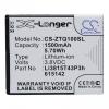 ZTE Blade Q Mini, Akkumulátor, 1500 mAh, Li-Ion, Li3815T43P3h615142 kompatibilis