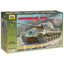 Zvezda KingTiger Ausf B (Henschel turret) tank harcjármű makett zvezda 3601 makett figura