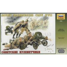 Zvezda Soviet Machineguns Crew WWII 1943-1945 figura makett figura
