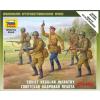 Zvezda Soviet Regular Infantry 1941-42 1/72 (6179) figura makett