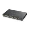 ZyXEL Switch 48x1000Mbps POE + 4x Gigabit Combo Hybrid mode, Standalone or Nebulaflex Smart menedzselhető (375W) (GS192048HPV2-EU0101F)